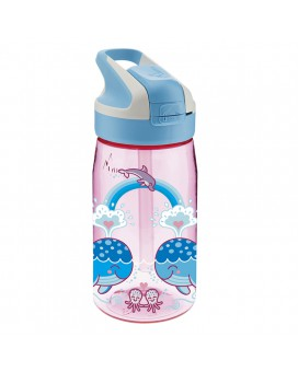 LOVE WHALES TRITAN BOTTLE 0,45L SUMMIT CAP