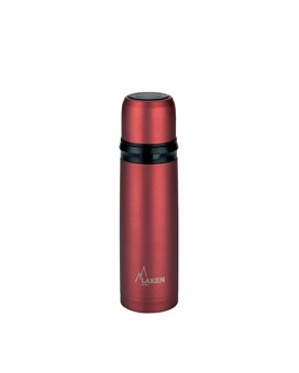 INSULATED BOTTLE 0.5L STAINLESS STEEL RED WITH CAP-MUG