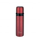 INSULATED BOTTLE 0.75L STAINLESS STEEL RED WITH CAP-MUG
