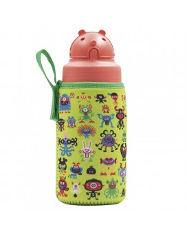 TRITAN BOTTLE 0.45L WITH OBY CAP AND PEKEMONSTERS NEOPRENE COVER