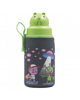 TRITAN BOTTLE 0.45L WITH OBY CAP AND OVNI NEOPRENE COVER