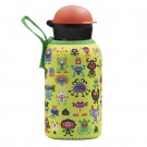 STAINLESS STEEL THERMO BOTTLE 0.35L HIT CAP WITH PEKEMONSTERS NEOPRENE COVER