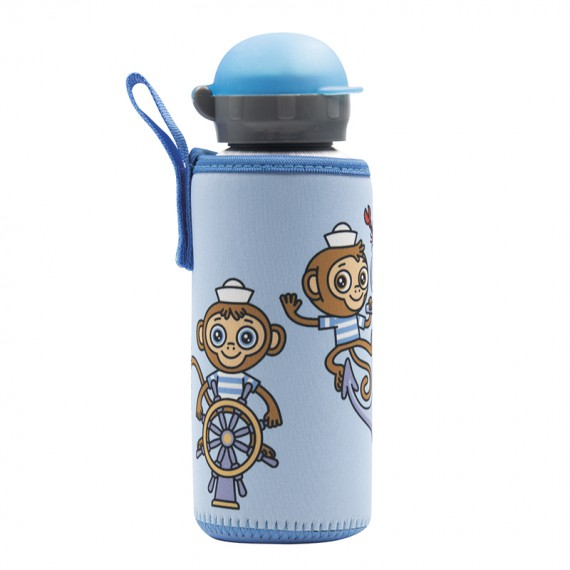 ALUMINIUM BOTTLE FOR KIDS 0.45L WITH MIKONAUTICOS NEOPRENE COVER