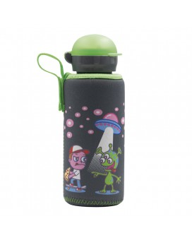 ALUMINIUM BOTTLE FOR KIDS 0.45L WITH OVNI NEOPRENE COVER