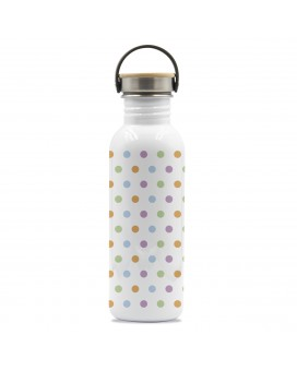 DRINK LIFE! MOLES BASIC STEEL BOTTLE 0.75L BAMBOO AND STAINLESS STEEL CAP