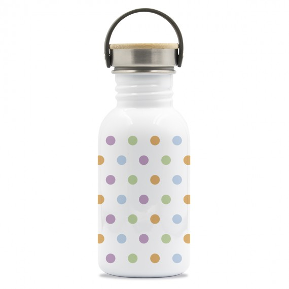 DRINK LIFE! MOLES BASIC STEEL BOTTLE 0.50L BAMBOO AND STAINLESS STEEL CAP