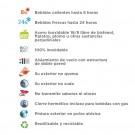 BOTELLA TÉRMICA 0,35L DE ACERO INOXIDABLE CLASSIC (BOCA ANCHA)
