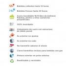 BOTELLA DE ACERO INOXIDABLE TÉRMICA 0,75 L FUTURA (BOCA ESTRECHA)