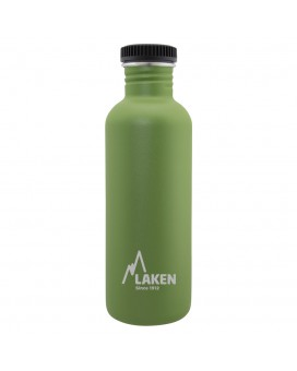 STAINLESS STEEL BASIC STEEL BOTTLE 1L BLACK CAP