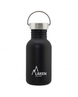 BASIC STEEL BOTTLE 0.50L STAINLESS STEEL CAP