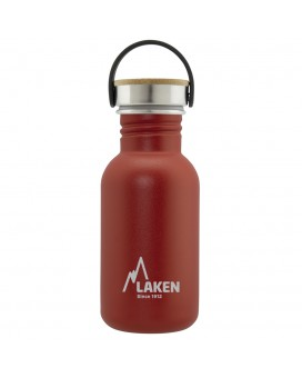 BASIC STEEL BOTTLE 0.50L BAMBOO AND STAINLESS STEEL CAP