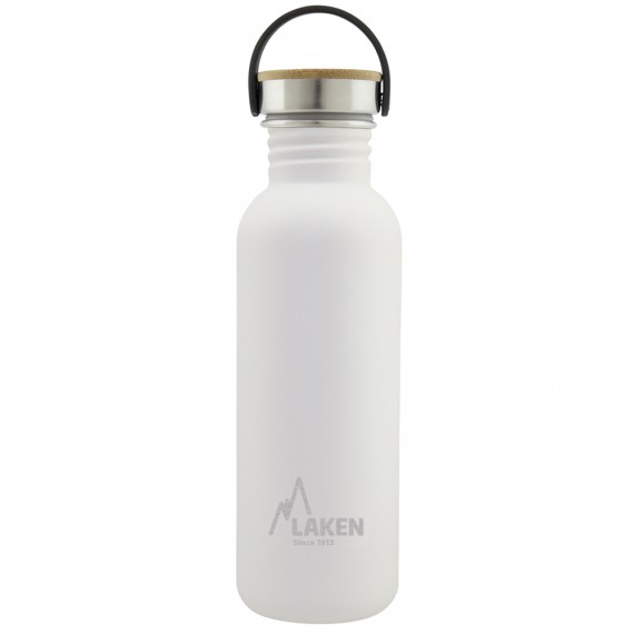 BASIC STEEL BOTTLE 0,75L BAMBOO AND STAINLESS STEEL CAP
