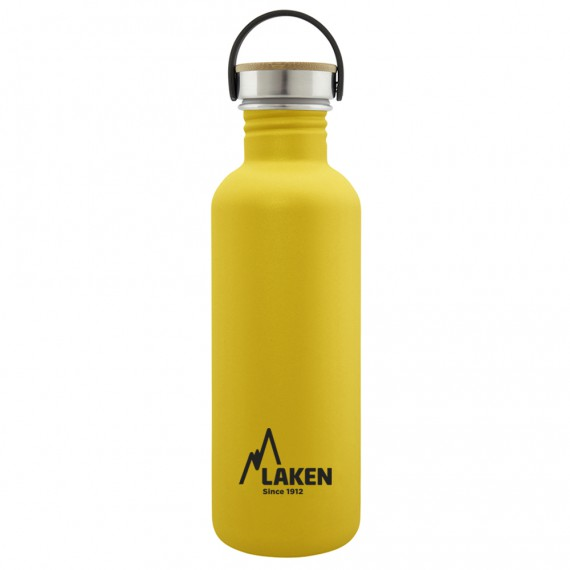 BASIC STEEL BOTTLE 1L BAMBOO AND STAINLESS STEEL CAP
