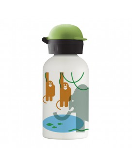 JUNGLE STAINLESS STEEL THERMO BOTTLE FOR KIDS 0,35L WITH HIT CAP