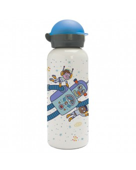 SPACE ROBOT ALUMINUM BOTTLE FOR KIDS 0.45L HIT CAP