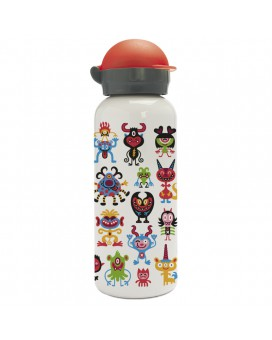 PEQUEMONSTERS ALUMINUM BOTTLE FOR KIDS 0.45L HIT CAP