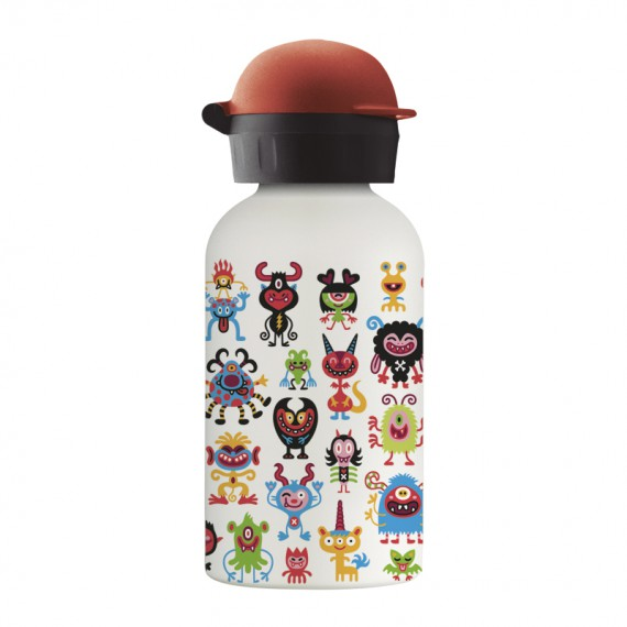 PEQUEMONSTERS STAINLESS STEEL THERMO BOTTLE 0.35L HIT CAP