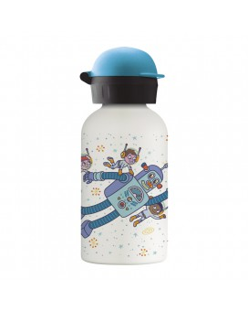 SPACE ROBOT STAINLESS STEEL THERMO BOTTLE 0.35L HIT CAP