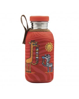 STAINLESS STEEL JUNIOR BOTTLE 0.50L NEOPRENE COVER CHUPI & STAINLESS STEEL AND POLYPROPYLENE CAP