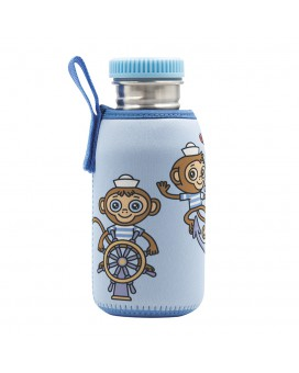 STAINLESS STEEL JUNIOR BOTTLE 0.50L NEOPRENE COVER MIKONAUTICOS & STAINLESS STEEL AND POLYPROPYLENE CAP