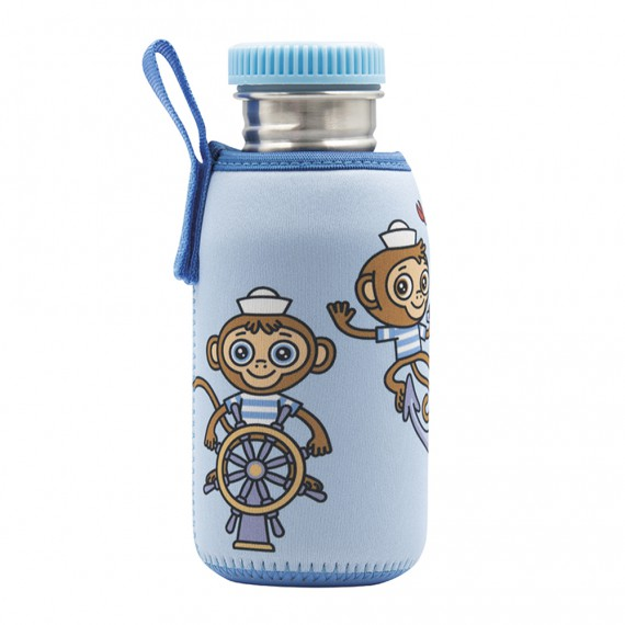 STAINLESS STEEL BOTTLE 0.5L WITH NEOPRENE COVER MIKONAUTICOS AND POLYPROPYLENE CAP
