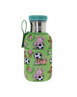 STAINLESS STEEL BOTTLE 0.5L WITH NEOPRENE COVER PICHICHI AND POLYPROPYLENE CAP