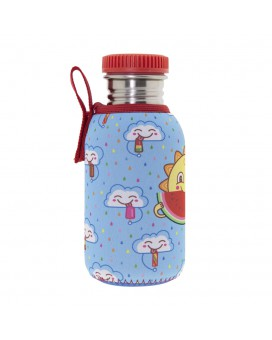 STAINLESS STEEL BOTTLE 0.5L WITH NEOPRENE COVER CHUPI AND POLYPROPYLENE CAP