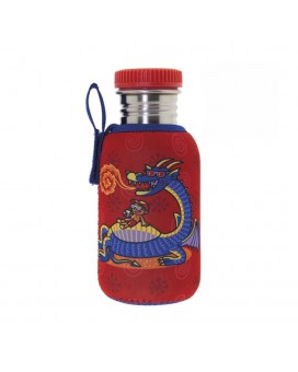 STAINLESS STEEL JUNIOR BOTTLE 0.50L NEOPRENE COVER EGUZKITAN & STAINLESS STEEL AND POLYPROPYLENE CAP