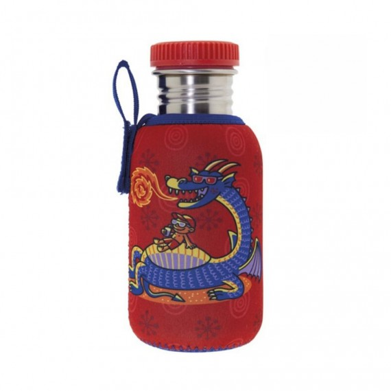 STAINLESS STEEL BOTTLE 0.5L WITH NEOPRENE COVER EGUZKITAN AND POLYPROPYLENE CAP
