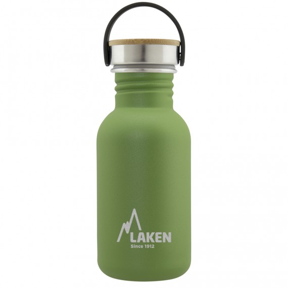 STAINLESS STEEL BOTTLE BASIC STEEL 0.35L, 0.50L, 0.75L, 1L BAMBOO STAINLESS STEEL CAP