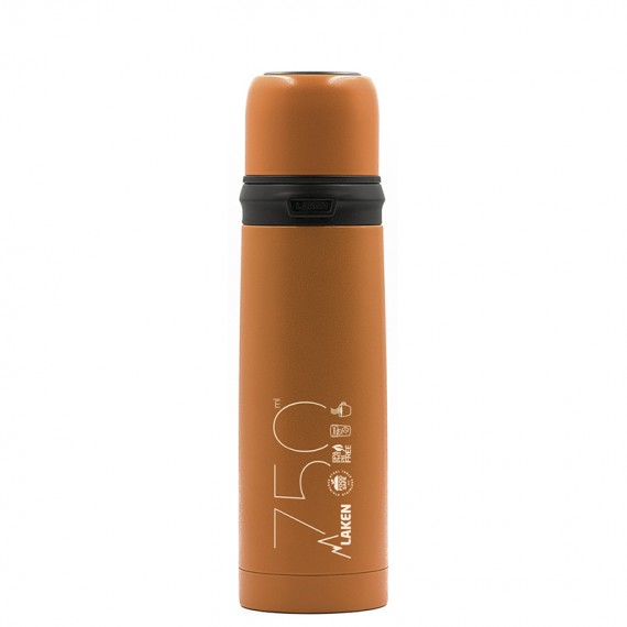 STAINLESS STEEL THERMO LIQUIDS FLASK WITH CAP-MUG 0.5L, 0.75L, 1L