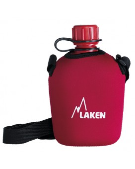 POLYETHYLENE CANTEEN WITH NEOPRENE COVER 1L