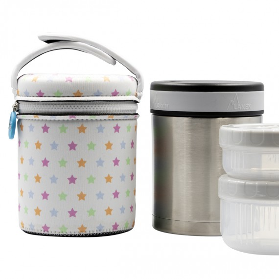 STAINLESS STEEL THERMO FLASK FOOD DRINK LIFE! STARS 1L
