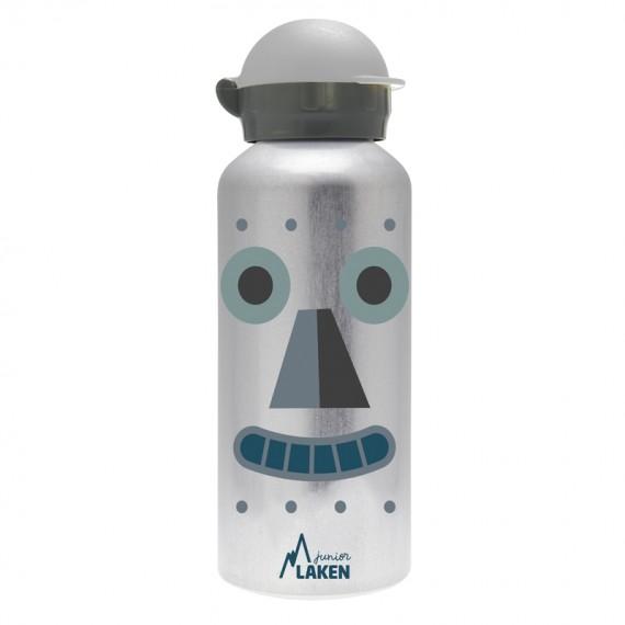 ROBOT ALUMINUM BOTTLE FOR KIDS 0.45L HIT CAP
