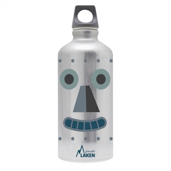 BOTELLA INFANTIL DE ALUMINIO ROBOT 0,60 L TAPÓN FUTURA